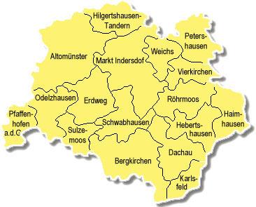 Gemeinden im Landkreis Dachau